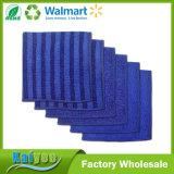 Microfiber azul náutico esfrega, limpa e lustra os panos, 12X12
