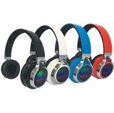LED 빛을%s 가진 접히는 Bluetooth 무선 입체 음향 헤드폰 조정가능한 헤드폰