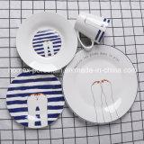 Western moderno estilo de vajillas de porcelana azul