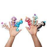 6 обезьян игрушки Fingerlings цветов взаимодействующих