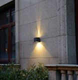 Buena viruta para 2*3W la luz al aire libre de la pared de la cubierta negra LED