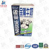 Rectángulo de empaquetado de la leche y del jugo