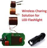 Recargable de carga inalámbrica Módulo de Diseño de Soluciones para la linterna LED