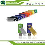 Gire a chave USB de logotipo personalizado Pen Drive Flash USB
