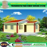Maisons modulaires préfabriquées préfabriquées élégantes de coût bas avec les panneaux solaires