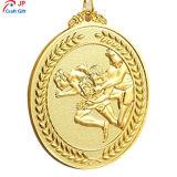 Personalizar la alta calidad chapado en oro la ejecución de la medalla de metal