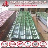 Construction couvrant la feuille galvanisée colorée de toiture en métal