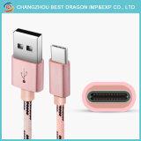 Großhandelsuniversalität 3 in 1 Nylon umsponnene USB-Kabel-Daten-aufladentypen c-Kabel