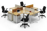 Mobilier de bureau moderne 3 sièges Office Cubicle Workstation (HF-BSD030)