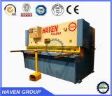 Machine QC11Y 6X6000 de plaque de massicot hydraulique de tonte en acier et de découpage
