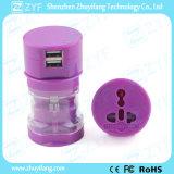Adattatore universale doppio portatile di energia elettrica di corsa del USB (ZYF9006)