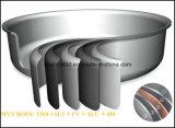 Ensemble de cuisine en acier plaqué en cuivre