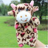 Custom barato fantoche de mão de vaca de pelúcia brinquedo para Holiday