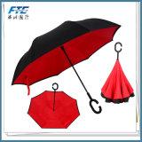 Paraguas recto invertido grande del verano de la lluvia del paraguas de la promoción