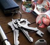 OEMの小型多機能の栓抜きのスクリュードライバーのKeychainのツール