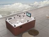 STATION THERMALE de taille moyenne extérieure de massage acrylique carré de luxe avec la TV