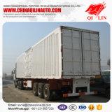Shacman 3 essieux du tracteur avec boîte fermée remorque de camion pour la vente