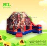 子孫の子供のための膨脹可能なコンボの跳躍の家の弾力があるスライドの城