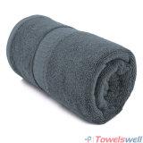 灰色の贅沢100%のタケ手タオル