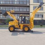 La construction de routes de la machinerie de creusement du chargeur avant du tracteur de la machine la pelle rétro excavatrice remorquable
