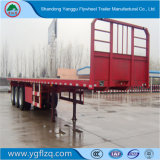 회전익 3 Fuhua/BPW 차축 아BS 판매를 위한 제동 탄소 강철 평상형 트레일러 반 트럭 트레일러