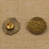 Insigne de souvenir personnalisé en souvenir Pin à anneaux en métal avec prix bon marché