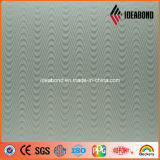 Material compuesto de aluminio que graba de la onda de la serie metálica de plata del tacto