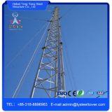 Torretta mobile delle Telecomunicazioni dell'albero di Guyed dell'antenna del telefono delle cellule di GSM
