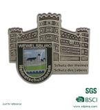 Pinos de prata feitos sob encomenda baratos do Lapel das forças armadas 3D para o exército