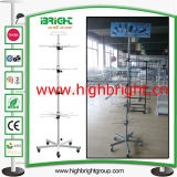 Multi Reihe-Draht-stapelbarer Bildschirmanzeige-Speicher-Korb-Standplatz