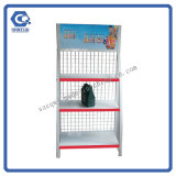 4 Stufen-Fußboden Stellung kundenspezifische fördernde Surpermarket Bildschirmanzeige-Zahnstange mit Rädern