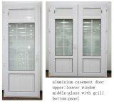 Portello di alluminio della stoffa per tendine di vendita calda con la feritoia/finestra di vetro della gelosia