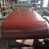 Bobina de acero cubierta color del cinc