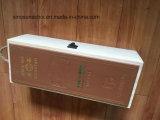주문을 받아서 만들어진 로고를 가진 1개의 병에 넣어진 나무로 되는 포도주 상자