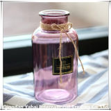 Retro Floswer color florero de vidrio/ Frasco de vidrio