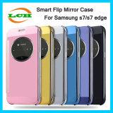 Het galvaniseren het Slimme Geval van de Telefoon van de Dekking van de Tik van de Spiegel Mobiele voor de Rand van Samsung S7
