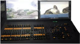 2つのスクリーンが付いている壮大なMaコマンド翼そしてフェーダーの翼DMXのコントローラはコントローラをつける
