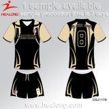 Healong dernière conception de vêtements de sport d'impression 3D polyester maillot de football