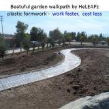 Garten-Plastikverschalung-Arbeit schneller, mehrfachverwendbarer Bürgersteig