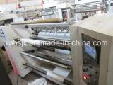 Marco horizontal que raja la máquina no tejida de la tela el rebobinar