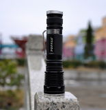 El aluminio 1*18650 Batería de litio 5LED Mini Linterna de modos de luz de flash