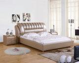 現代革寝室の家具