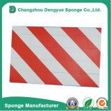 Advertencia de garaje impermeable de color rojo-blanco para la protección contra rasguños Advertencia de garaje lateral