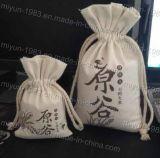Riutilizzabili amichevoli su ordinazione di Eco riciclano trasportano il sacchetto di Drawstring del sacchetto del cotone della tela di canapa del panno del Tote di acquisto (M.Y B-002)