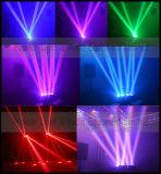Luz nova do feixe do diodo emissor de luz da cor cheia das cabeças 8*10W da aranha quatro com rotação infinita