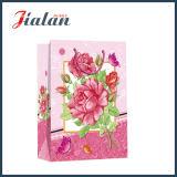 Personnaliser les fleurs avec le sac de papier de cadeau d'achats du jour de mère de scintillement