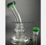 Glasrohr des wasser-13-Inch des Qualle-Grün-Filter-Wiederanlaufs
