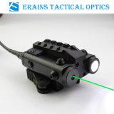 Новые военные стандартных компактных квадратных дизайн тактических Es-Fx103 - LG светодиодный фонарик с зеленый лазер из виду
