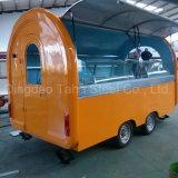 Kiosque de l'alimentation remorque mobile Orange crêpe Kiosque d'aliments pour la vente