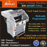 520X520 560X560 670X670mm Buch-Rand-Ausschnitt-automatische programmierte hydraulische Papierslitter-Maschine
